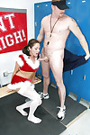 Christmas schoolgirl amateur CAmryn gives a sloppy cocksucking to that pecker