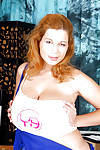 Puffy teen model Lea shows off her fat love melons and toys her cage of love