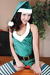 Christmas schoolgirl Tia Cyrus looks wonderful in  stockings