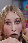 Ejaculation deed featuring glamorous adolescent cutie Riley Reynolds engulfing weenie