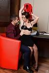 Boobsy office worker Julie Skyhigh attracts weenie attention in