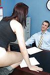 Fabulous hottie Dana is giving a hardcore facefucking at the office