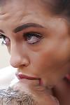 Infant brunette hair Adriana Chechik deepthroats schlong and accepts jism on zeppelins