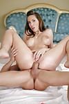 Youthful dear Kelly Divine riding a weenie cowgirl style with massive nipples