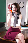 Marvelous coed Adria Rae undressing at school for revealing of diminutive tits