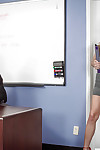 Appealing secretary Jillian Janson is percussion with her hardcore boss