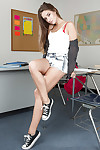 Cassidy Klein adores to attain bare in the classroom so check her out