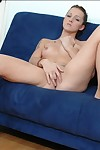 Shapely college beauty Sara Faye disrobes undressed and masturbates
