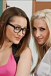 Smoking sticky pretties Dani Daniels & Sammie Rhodes having some lesbian getting pleasure