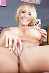 Big wobblers and fixed ass of coed babe Kagney Linn Karter in close up