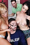 Hawt coeds Katrina Jade and Tasha Reign are very with tutor
