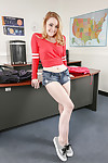 Coed fairy-haired gal Alexia Gold demonstrates her wazoo in the office