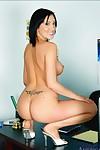 Clammy college princess Mindy Main erotic dancing her massive breast in the genus