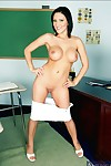 Clammy college princess Mindy Main erotic dancing her massive breast in the genus