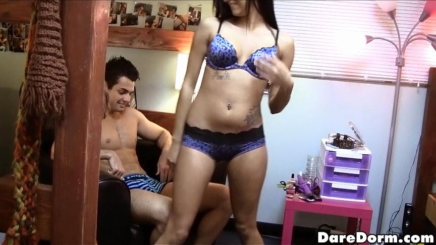 image Slutty brunette crazy raw dp fucking