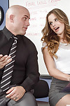 Young-looking secretary Jillian Janson is swallowing her boss\'s rod