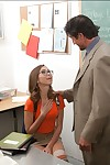 Naughty coed in glasses Riley Reid receives fucked in group by ache patriarch