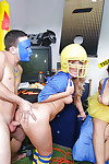Coed and Harley Jade and girlfriend voluptuous cock juice on face in dorm get-together