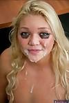 Lustful college cutie Jessie Andrews smokin\' and pleasing facial ejaculation