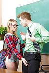 Sweet blond Dakota James is giving head for her mentor later on lessons