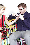 Lean blond coed prostate massage a stiff powerful pole with her diminutive hands