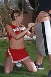 Lewd cheerleader with pigtails Brynn Tyler gains gangbanged intense outdoor
