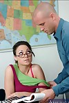 Extreme coed in glasses Isabella Dior shafted by her professor in variety