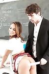 Cute Latin chico pornstar Sara Luvv takes hardcore spunk fountain in mouth from teacher