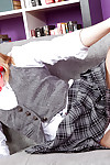 Infant solo princess Rachel James flashing upskirt schoolgirl underwear