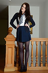Nice-looking schoolgirl Jessica-Ann Fegan modeling non as was born in  and short skirt