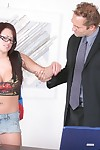 Latin babe schoolgirl in glasses Eva Angelina got her beautiful snatch bonked