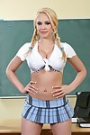 Saucy schoolgirl Kagney Linn Karter gets her shaved bawdy cleft boned-up
