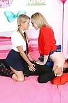 Aiden Aspen & Lily Labeau penetrated in glasses and school uniform