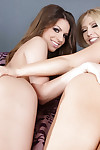 Lesbian schoolgirls Brooklyn Chase and Kagney Linn Karter have act of love