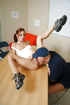 Hardcore diet redhead schoolgirl Riley gets astonishingly right in the office