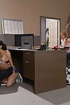Pigtailed schoolgirl Tia Cyrus blowing and very a BBC in way