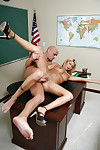 Amazing golden-haired youthful Darling is fucked in the office like a schoolgirl