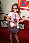 Cute brown hair teen schoolgirl Kaylee showing that wonderful body