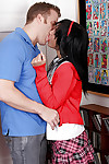 Infant schoolgirl Tess Morgan tempting rod in mixed race muff