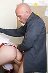 Overweight schoolgirl Katie Kox with huge billibongs attains deeply fucked
