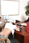 Schoolgirls Halia Hill and Carmen McCarthy accept punished with an group sex