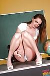 Young schoolgirl Tori Swarthy unveils her juvenile body in high heels