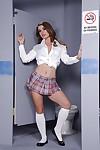 Hawt schoolgirl Bunny Freedom posing in her white socks
