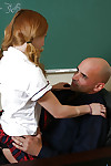 Alluring dark brown schoolgirl Lexy purchases cunt licked and mouth dug