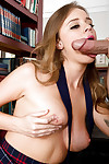 Alexis Adams is drilled by her schoolmate while in a school uniform