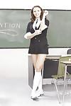 Raunchy schoolgirl Chanel Preston up-skirts & slides off her underclothing