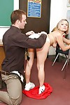 Naughty blond Jasmine Jolie spreading gentile and getting a cuni