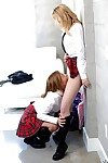18 year old blond schoolgirls Cali Sparks and Kelly Greene eating pussy