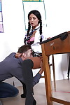 Titsy schoolgirl with pigtails purchases her holes screwed by a hung teacher
