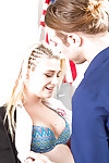 Blonde teenager Aubrey Gold tempting ejaculation on fine schoolgirl scoops
